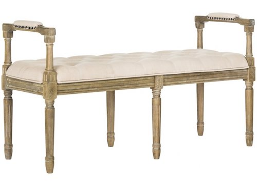 French Country Entryway Bench