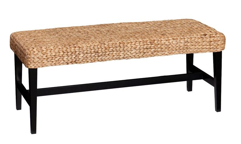 Natural Weave Entryway Bench