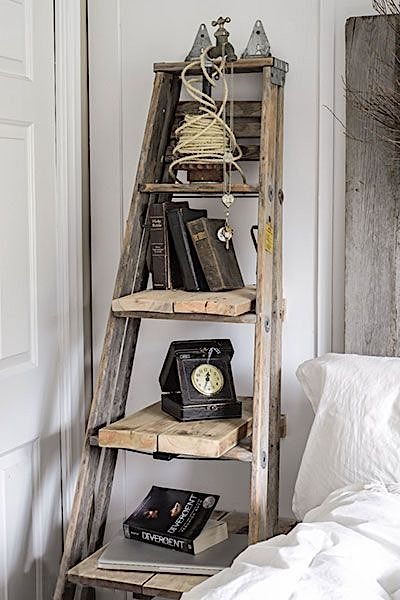 Rustic Ladder Shelving