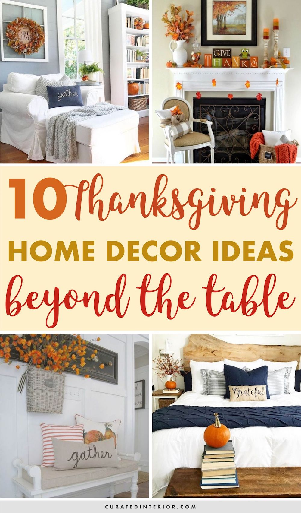 10 Thanksgiving Home Decor Ideas Beyond the Table #Thanksgiving #ThanksgivingDecor #ThanksgivingHomeDecor