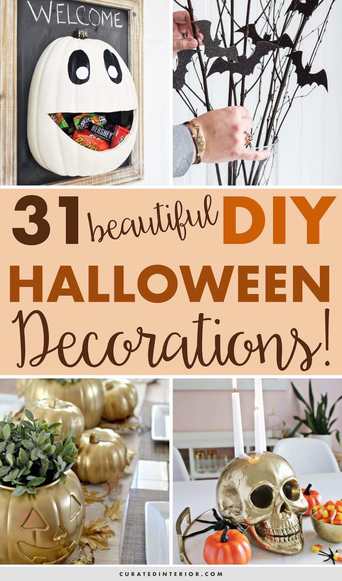 31 Beautiful DIY Halloween Decorations
