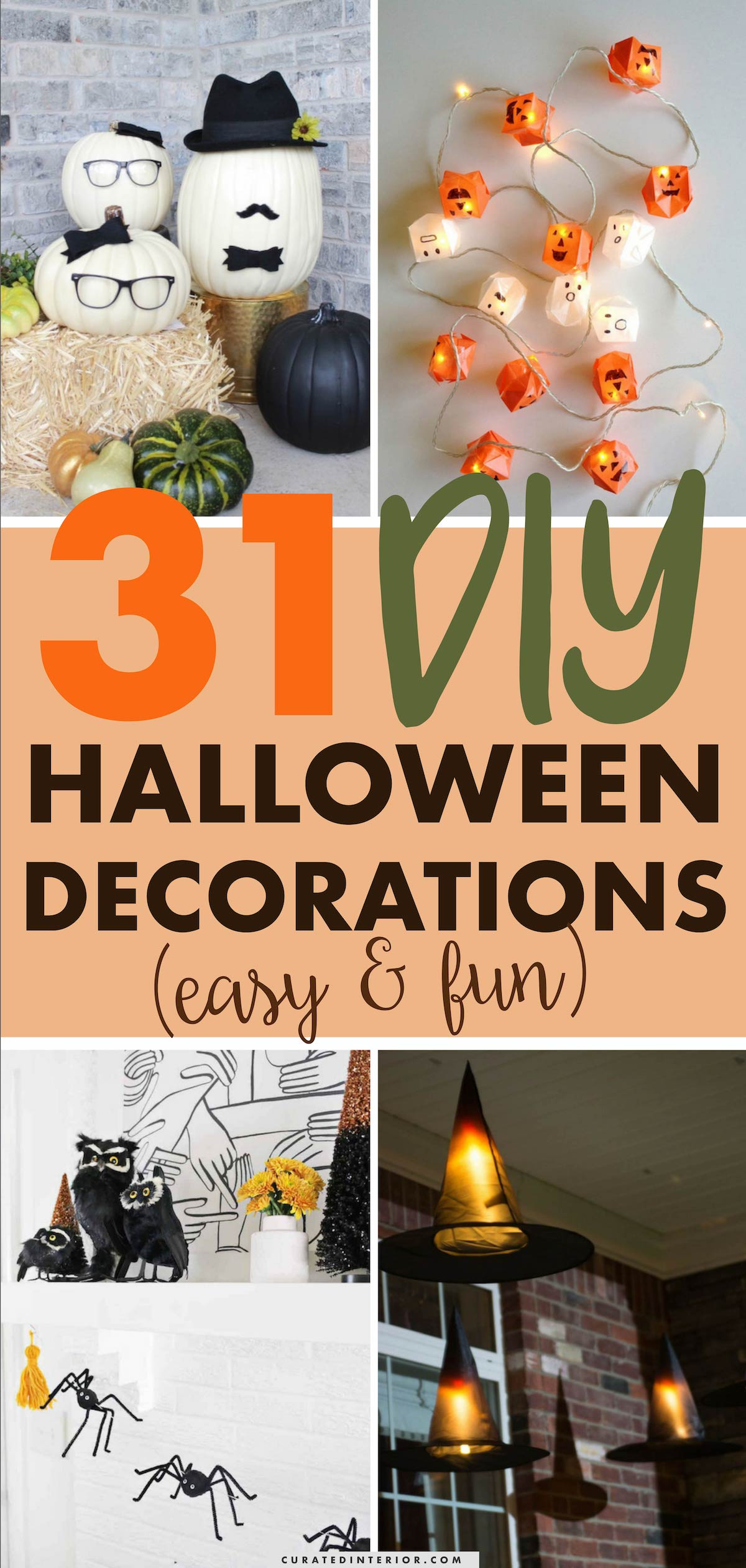 31 DIY Halloween Decorations That Are Easy And FUN