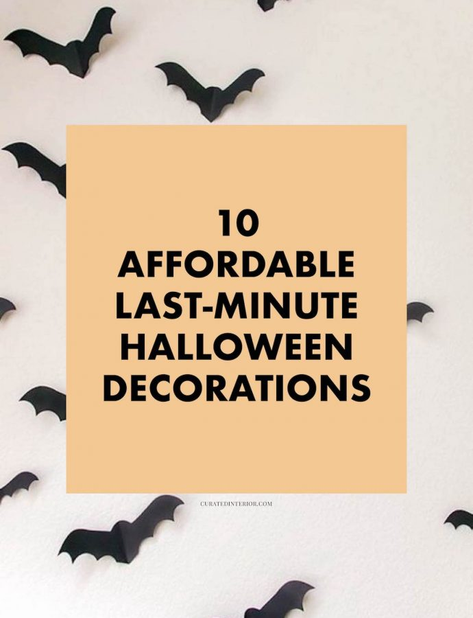 10 Affordable Last-Minute Halloween Decorations