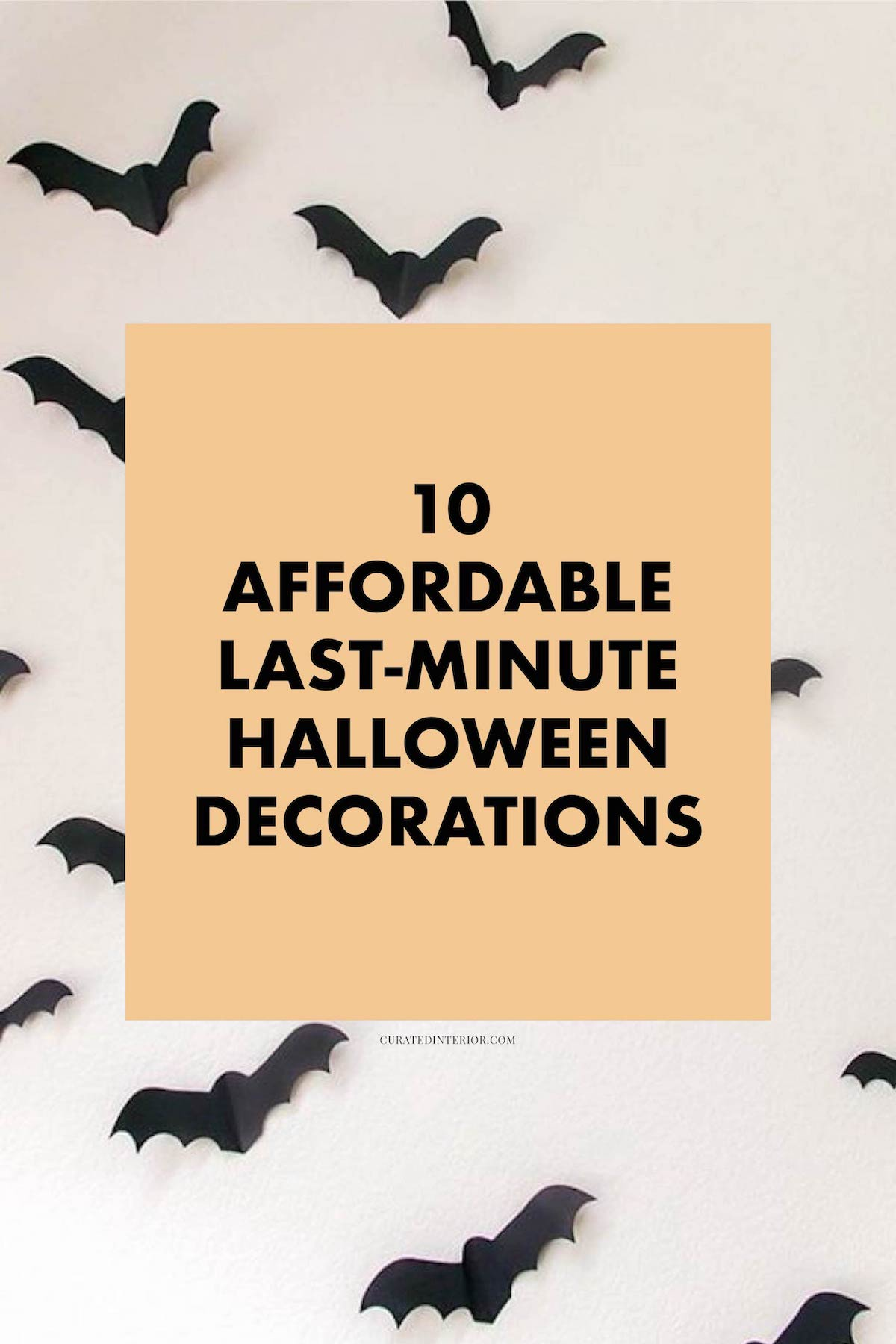 Affordable Halloween Home Decorations