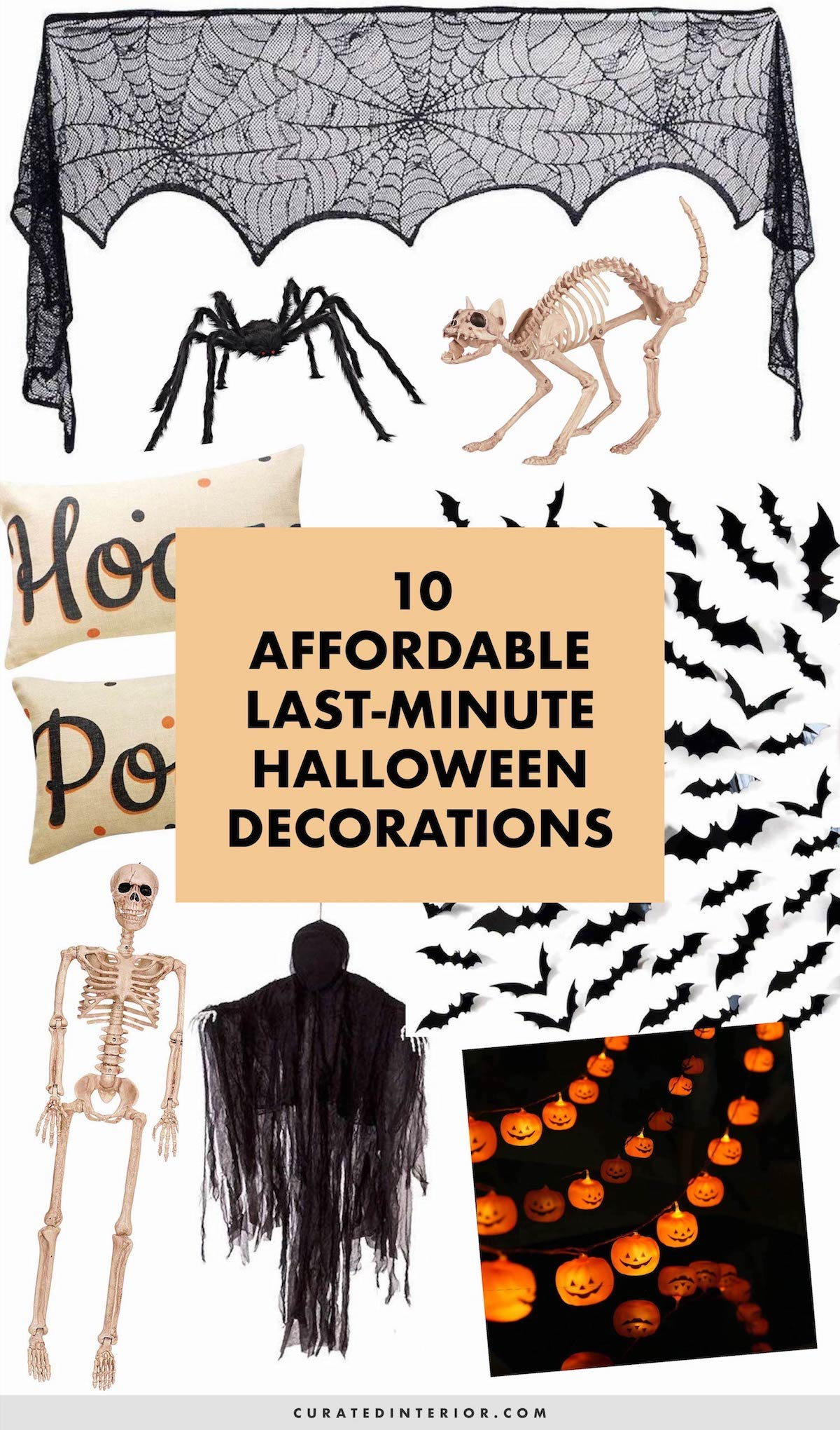 Affordable Last Minute Halloween Decorations