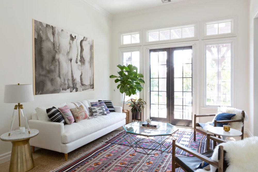 Bohemian California Living Room Home Tour
