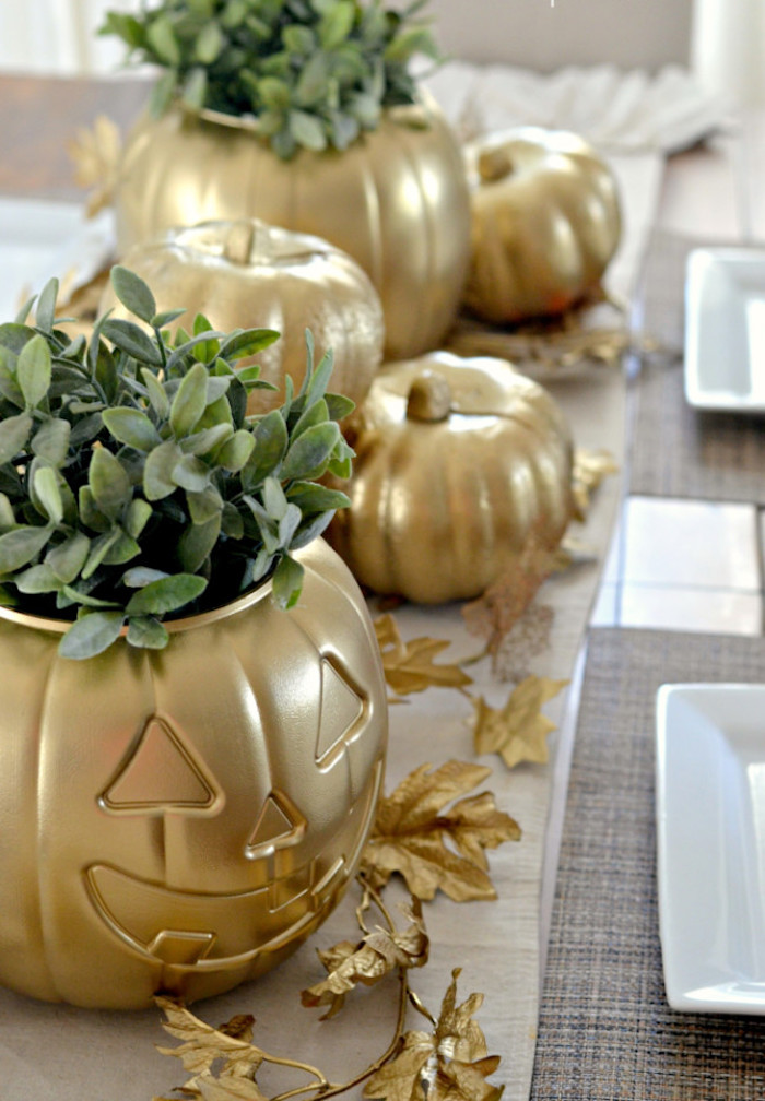 DIY Gold Dollar Store Pumpkin