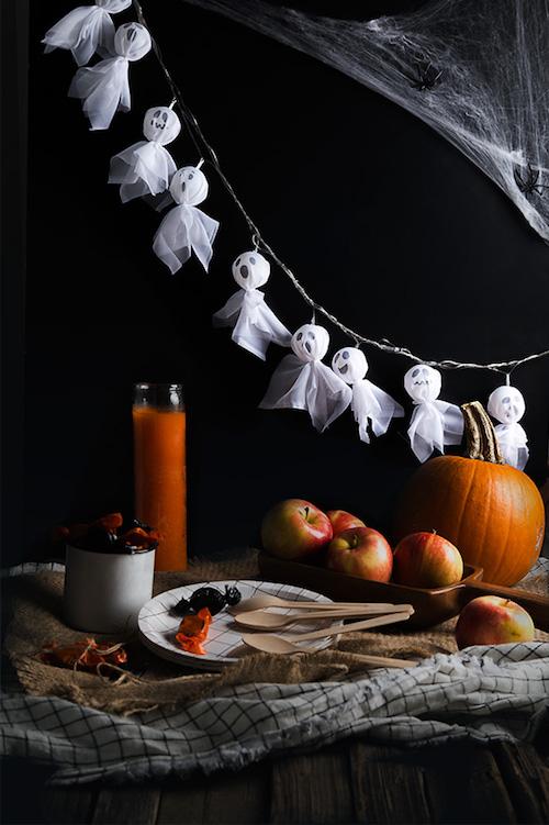DIY Halloween Ghost String Lights