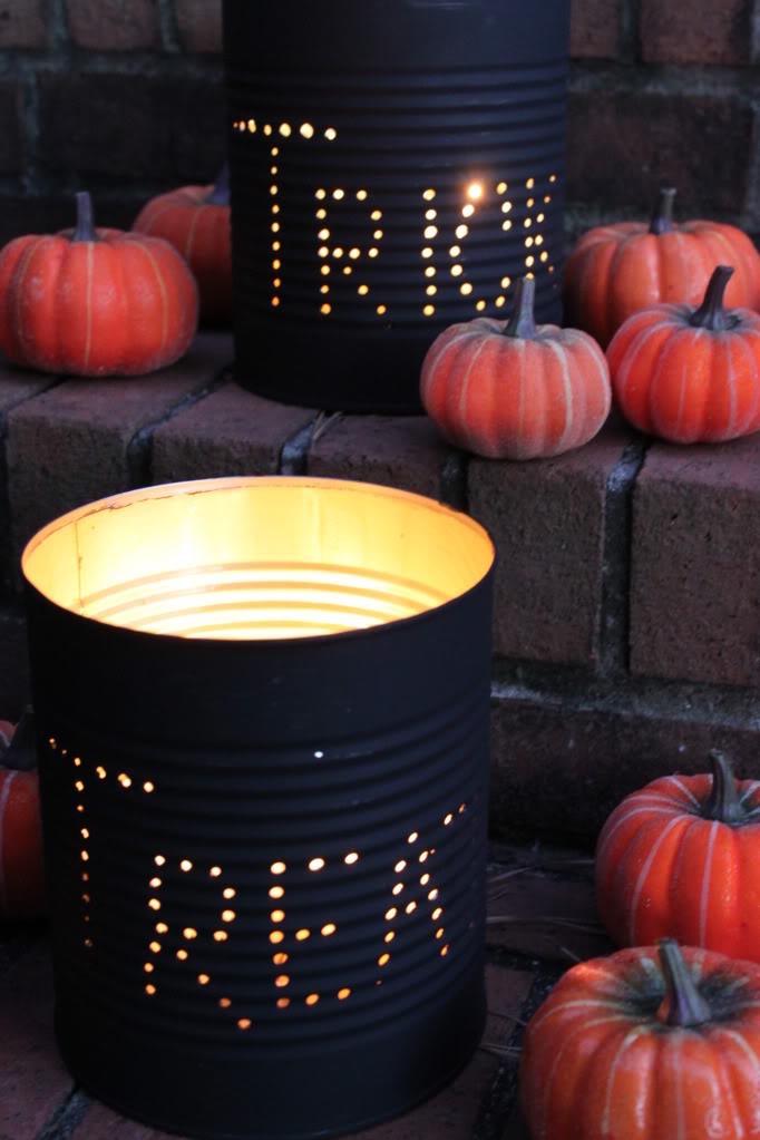 DIY Halloween Tin Can Luminaries Trick Or Treat