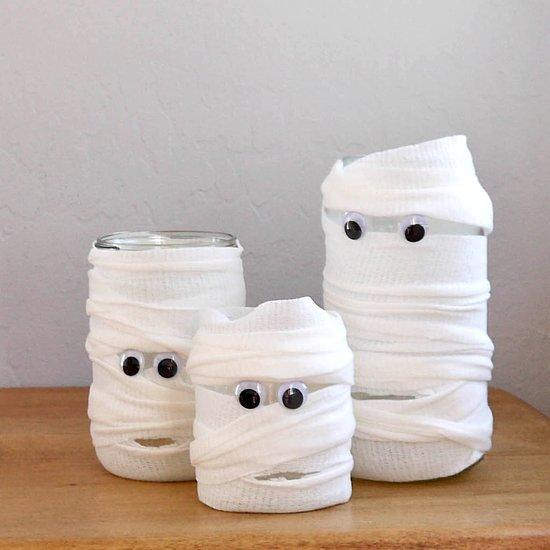 DIY Mummified Jars for Halloween