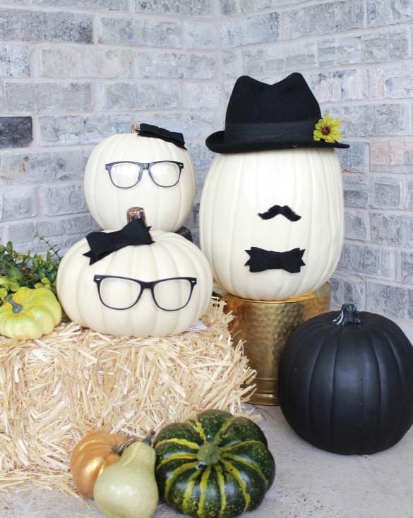 DIY No Carve Pumpkin People Decoration Halloween