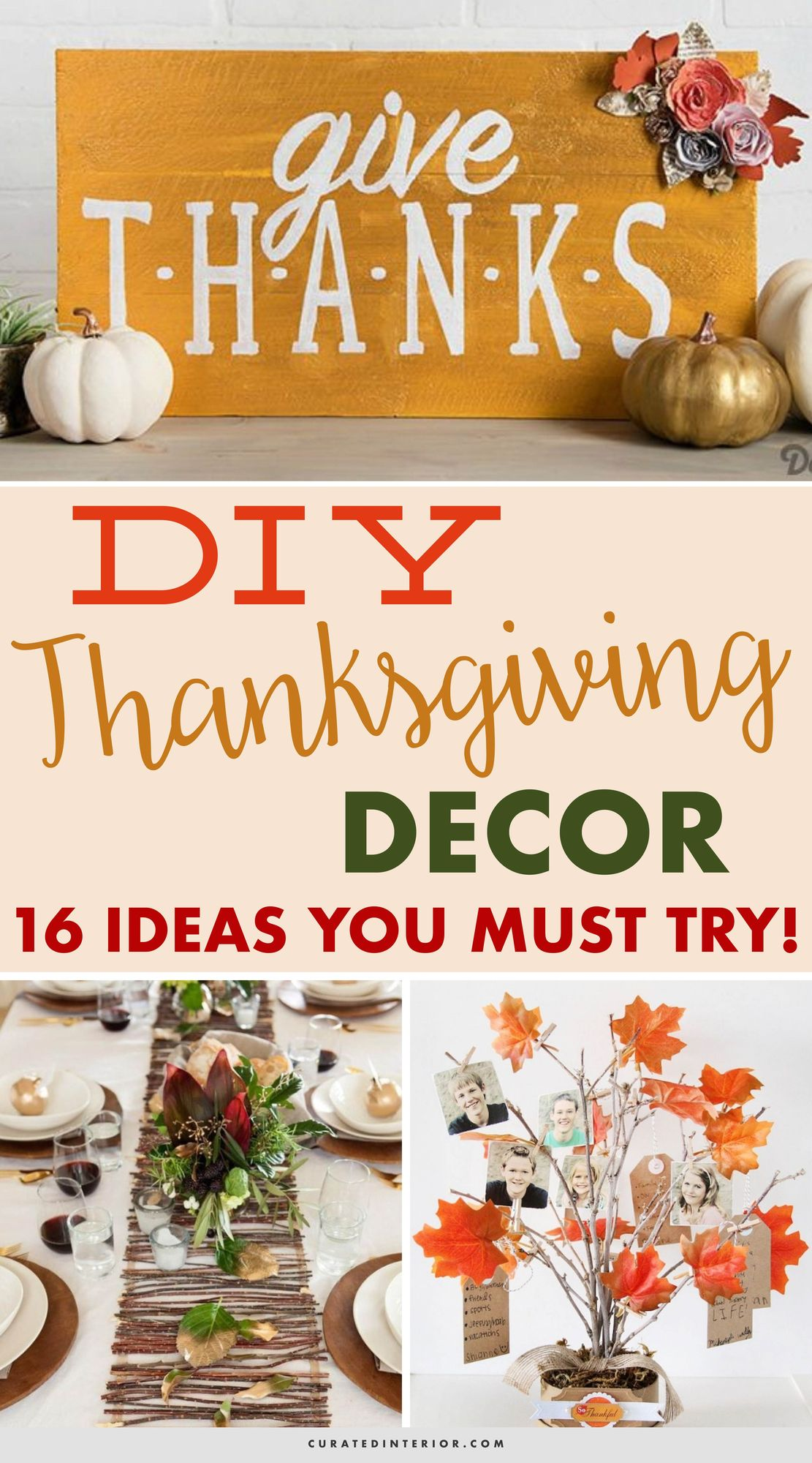 DIY Thanksgiving Decor Ideas You MUST Try