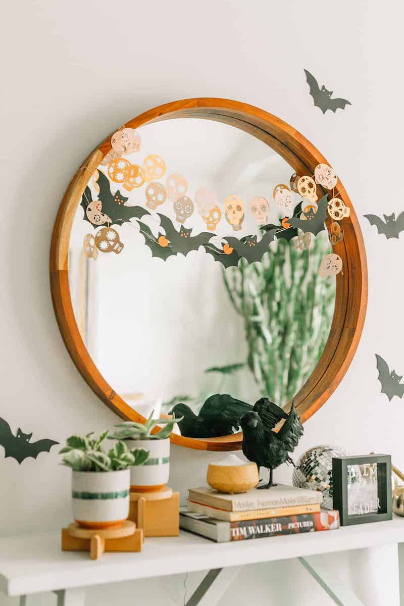 Halloween Decor Ideas Console Table Via A Beautiful Mess2