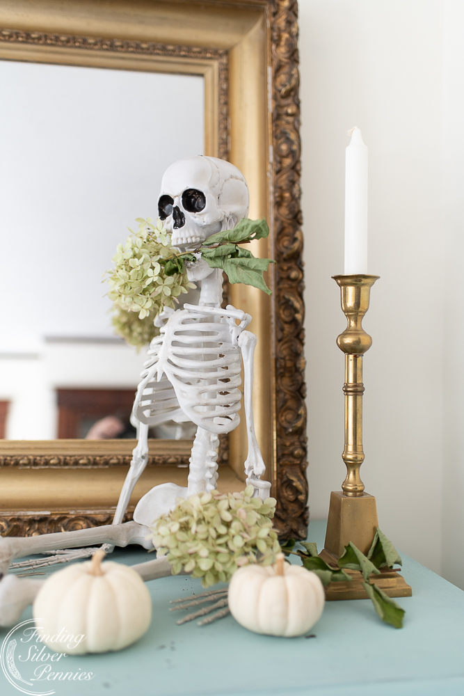Halloween Decor Ideas Flowers And Skeletons from Finding Silver Pennies