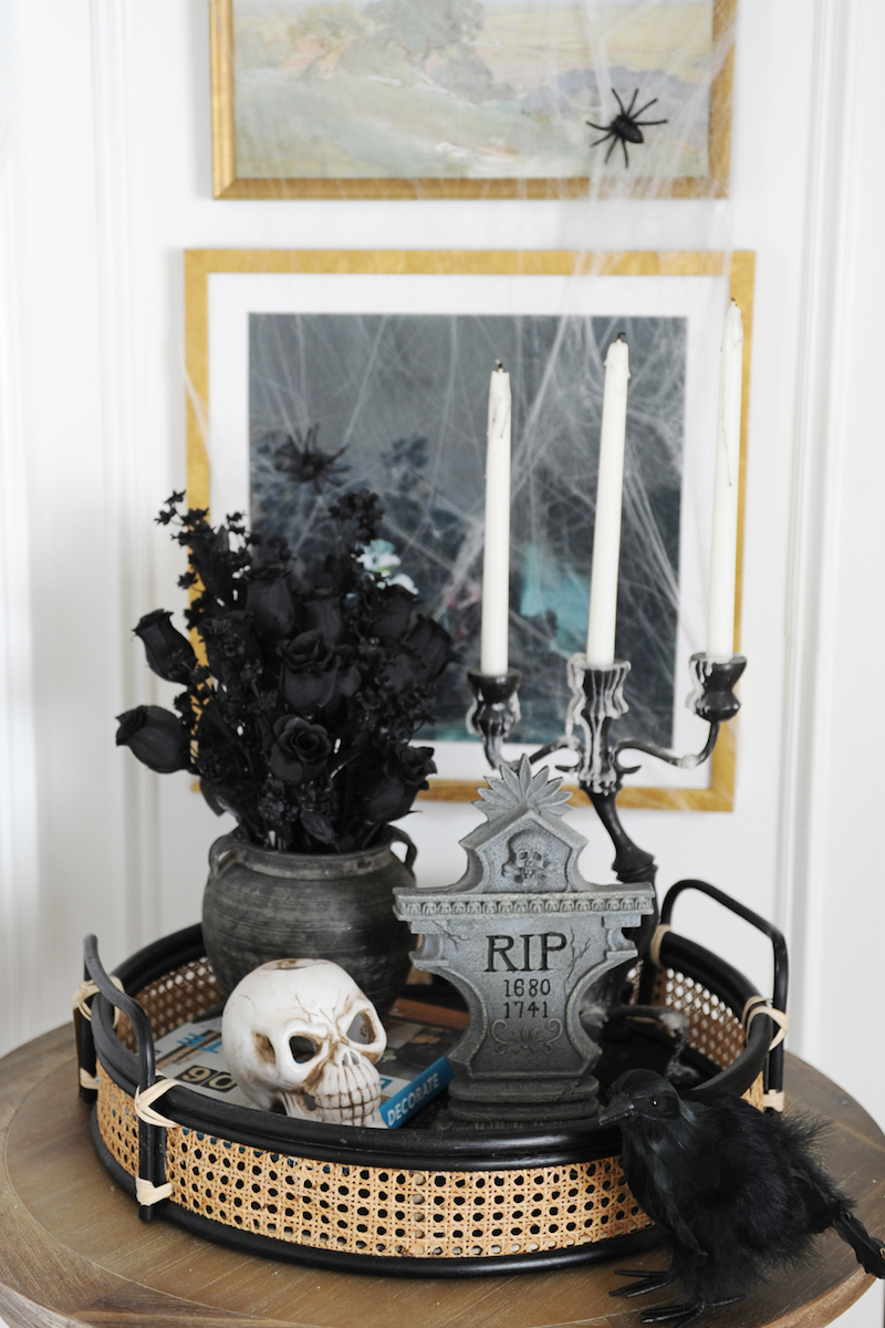 Halloween Decor Ideas Halloween Entryway Decor Via Pink Peppermint Design