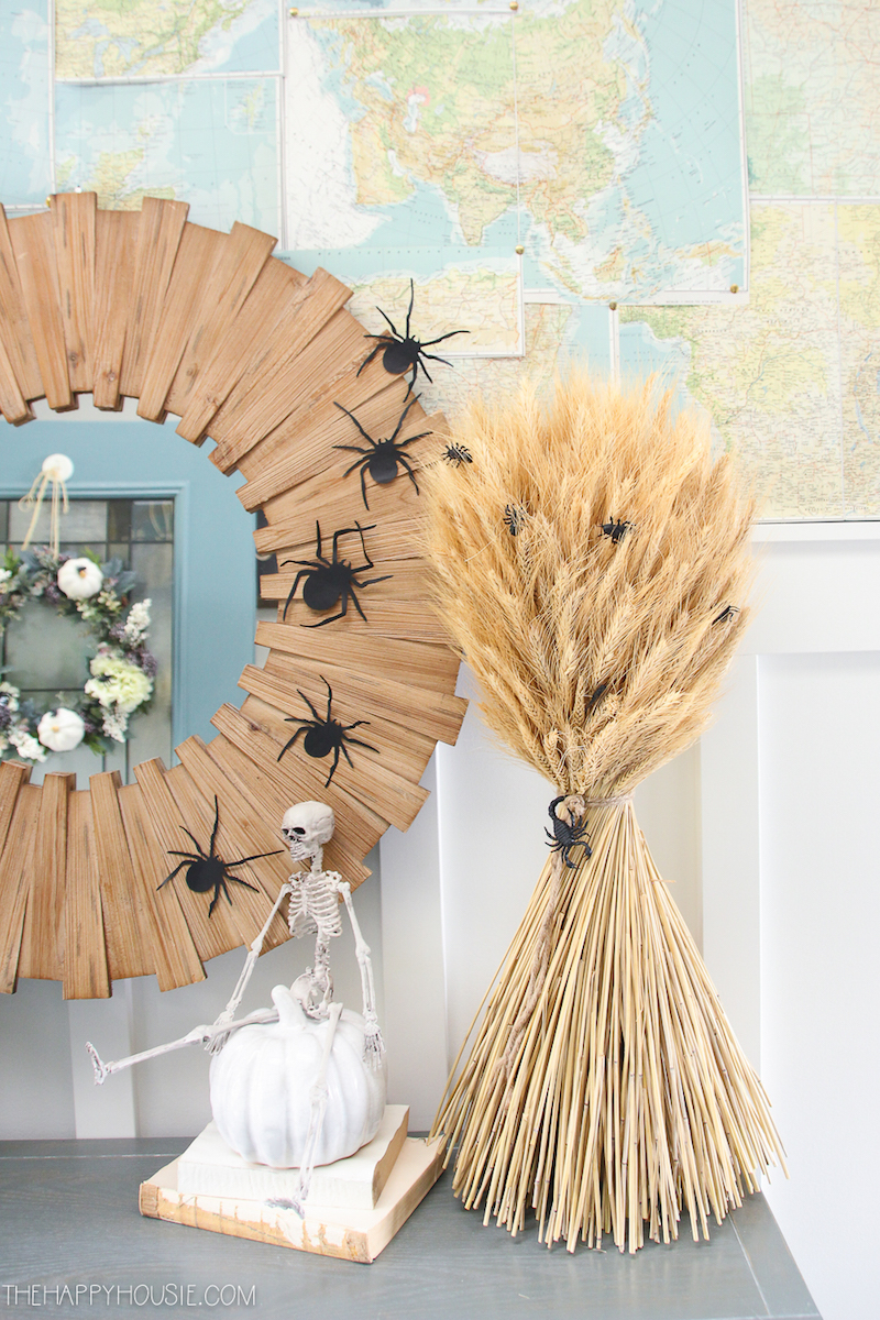 Halloween Decor Ideas Spiders On Wall Happy Housie