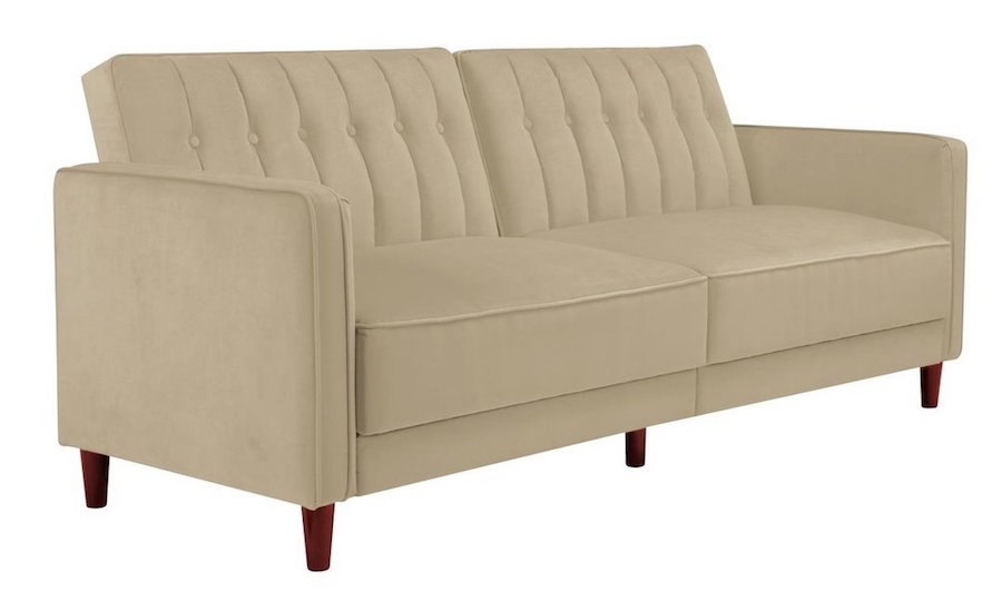 Highly Rated, Affordable Sofa Bed, Beige Tufted Convertible Bed
