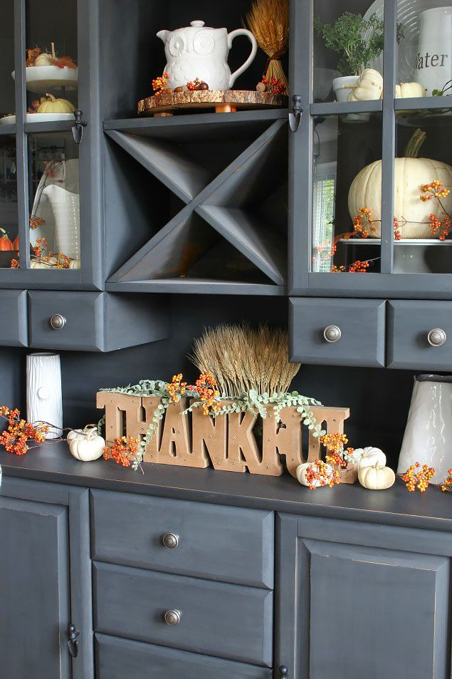 Thanksgiving Dining Room Decor via cleanandscentsible