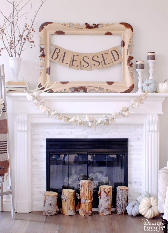 Thanksgiving Mantel Home Decor via classyclutter #ThanksgivingMantel #ThanksgivingHomeDecor