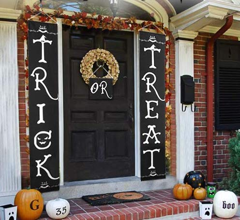 Affordable Halloween Decor - Trick Or Treat Banner