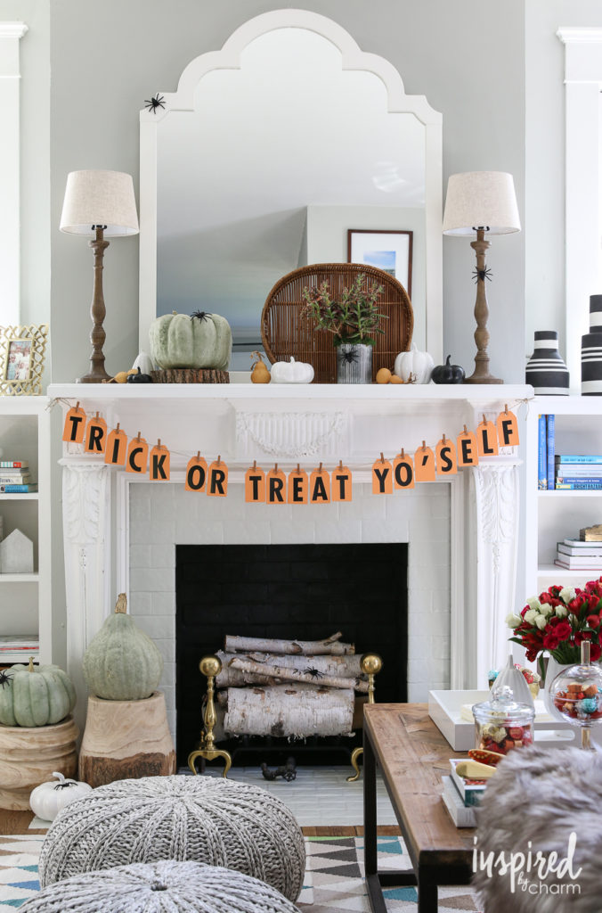 Trick Or Treat YoSelf DIY Halloween Tag Banner