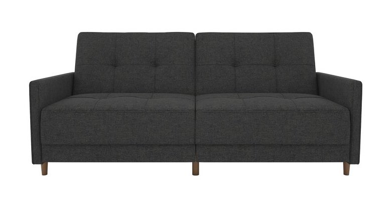 Tufted Linen Sleeper Sofa