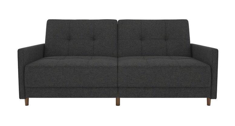 Tufted Linen Sleeper Sofa