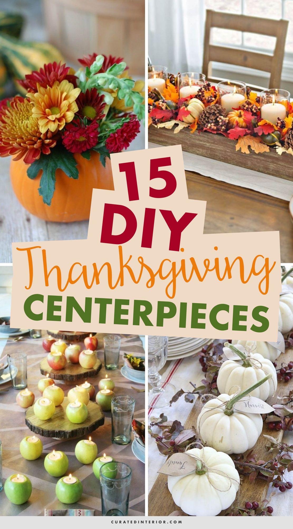 15 DIY Thanksgiving Centerpieces