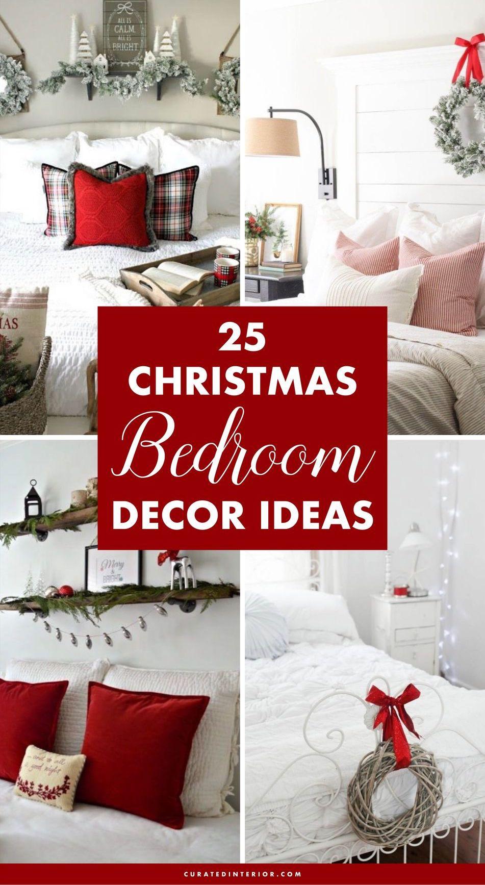 25 BEST Christmas Bedroom Decor Ideas #ChristmasDecor #ChristmasBedroom #ChristmasBedroomDecor