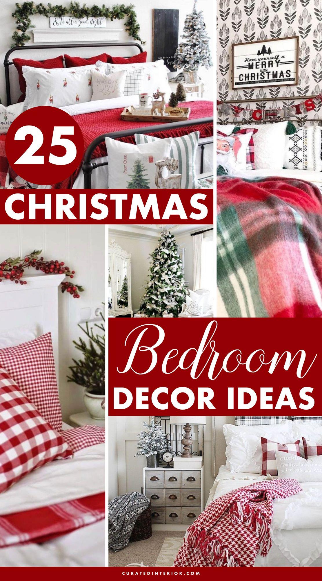 25 Fabulous Christmas Bedroom Decor Ideas #ChristmasBedroomDecor #ChristmasDecor