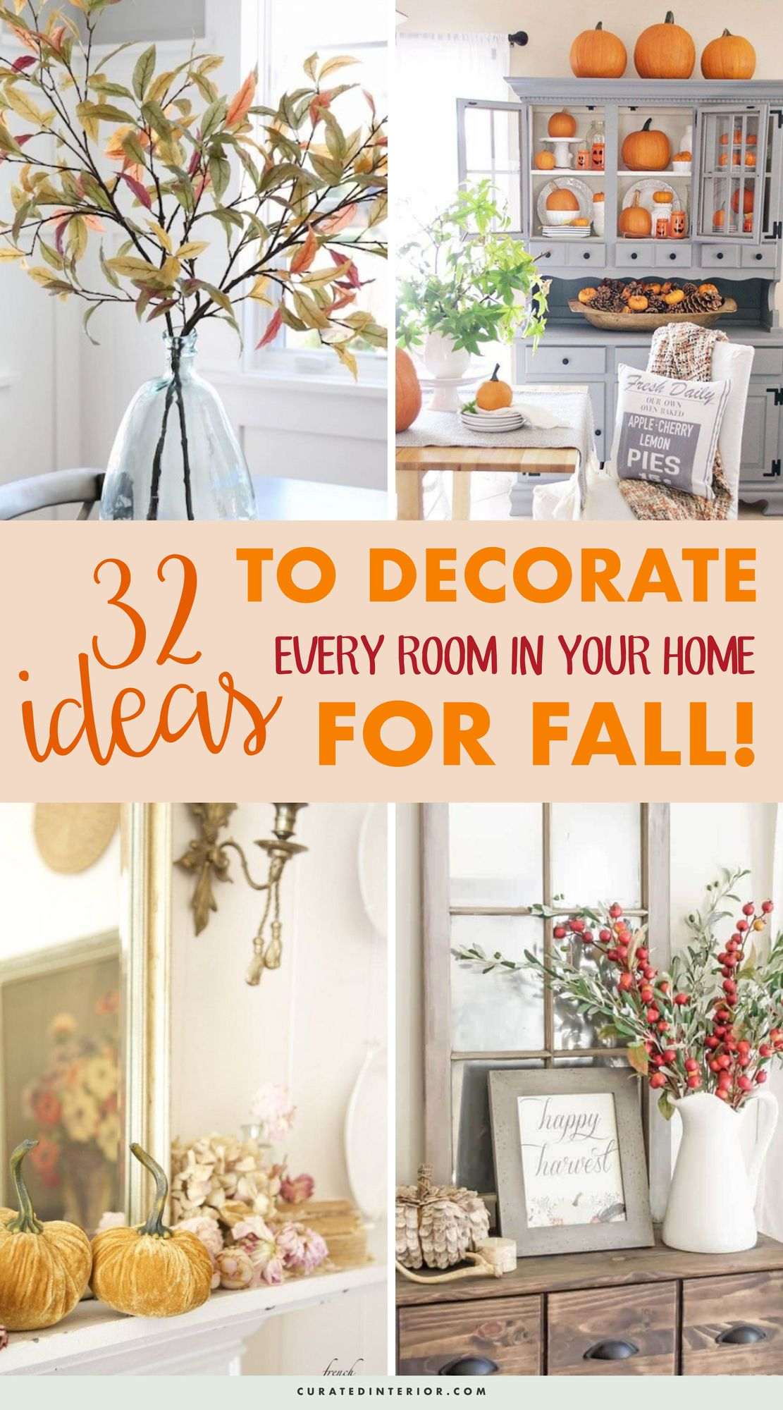 32 Ideas To Decorate Every Room In Your Home For FALL #FallDecor #FallHomeDecor #FallDecorIdeas #FallHome