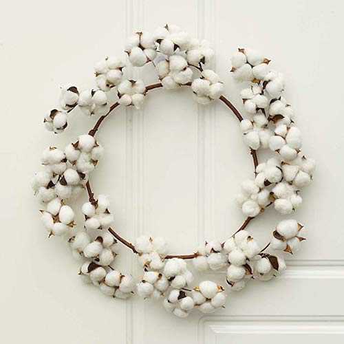 Affordable Fall Decorations Fall Cotton Wreath