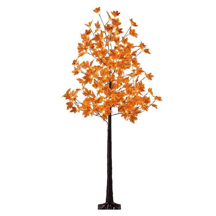 Affordable Fall Decorations Light Up Maple Tree