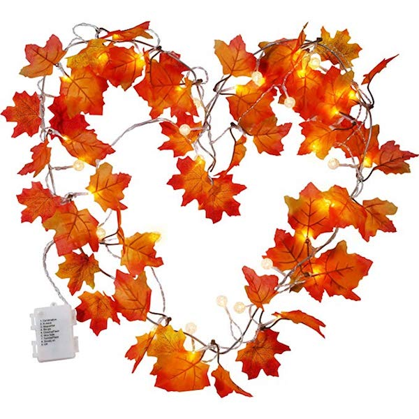 Affordable Fall Decorations Maple Leaves Fall Garland String Lights