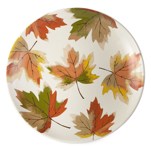 Affordable Fall Decorations Maple Leaves Salad Plate