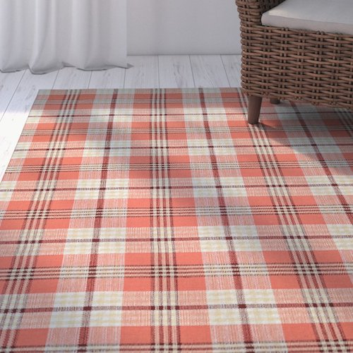 Affordable Fall Decorations Plaid Hand Woven Pumpkin Patch Rug