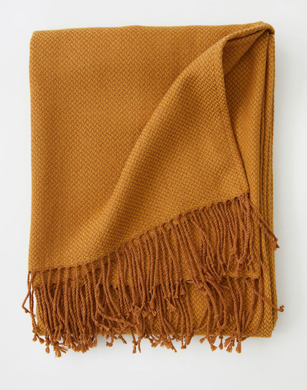 Affordable Fall Decorations Ultra Cozy Orange Blanket