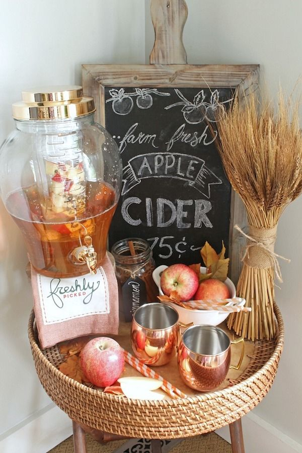 Apple Cider Farmhouse Fall Tray by Clean and Scentsible