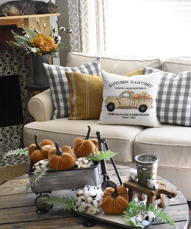 Living Room Decorating Ideas For Fall: 32 Fall Home Decor Ideas & Inspiration For A Cozy Autumn Home