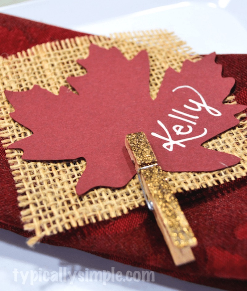Burlap Thanksgiving Place Card Holders Via Typicallysimple