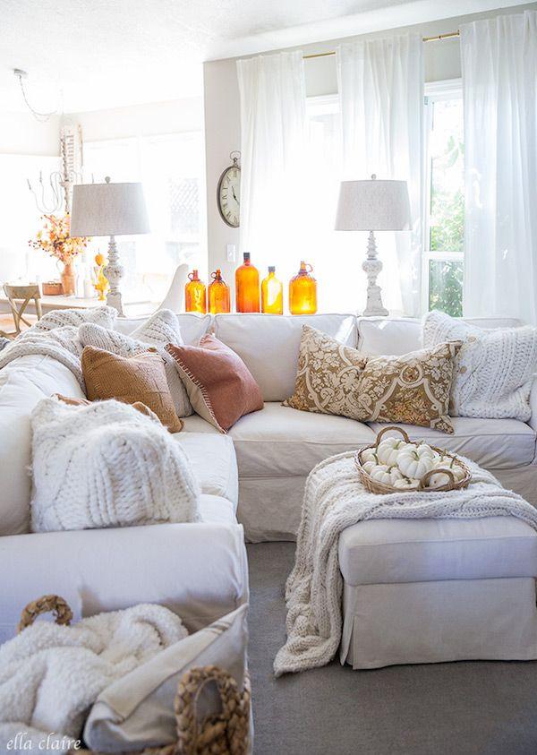 Burnt Orange Glass Bottle Living Room Decor Fall By Ellaclaireinspired