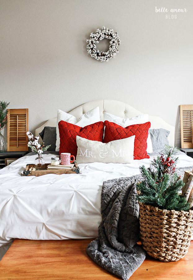 Christmas Bedroom Decor ideas via belleamourdesigns