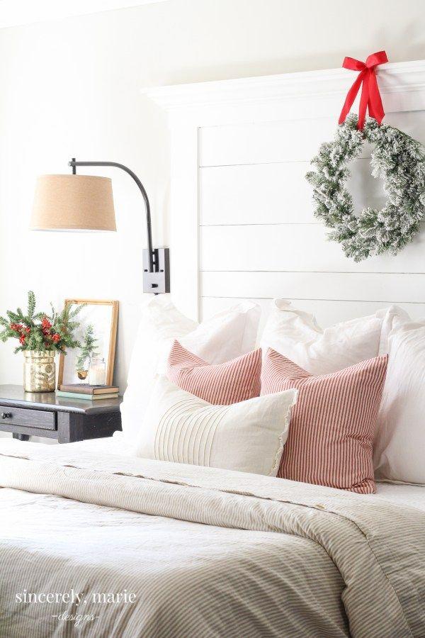 DIY Christmas Bedroom Decor sincerelymariedesigns