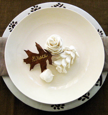 DIY Clay Pinecone Place Setting Via Design Sponge