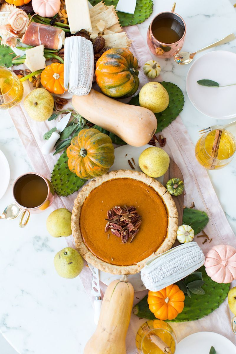 DIY Thanksgiving Centerpiece With Gourds via Sugar And Cloth