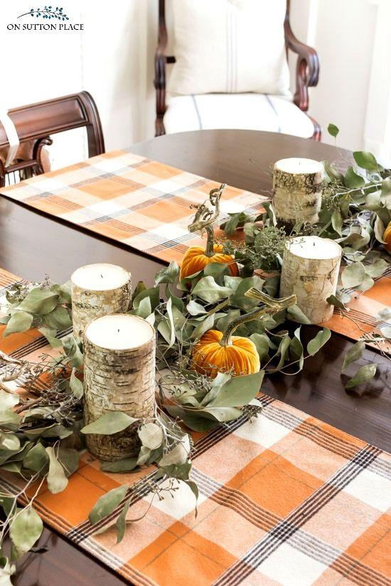 DIY Thanksgiving Seeded Eucalyptus Garland via Onsuttonplace