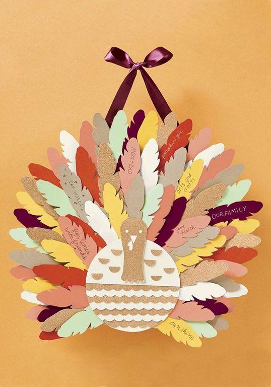 DIY Turkey Centerpiece For An Interactive Family Thanksgiving via Modcloth