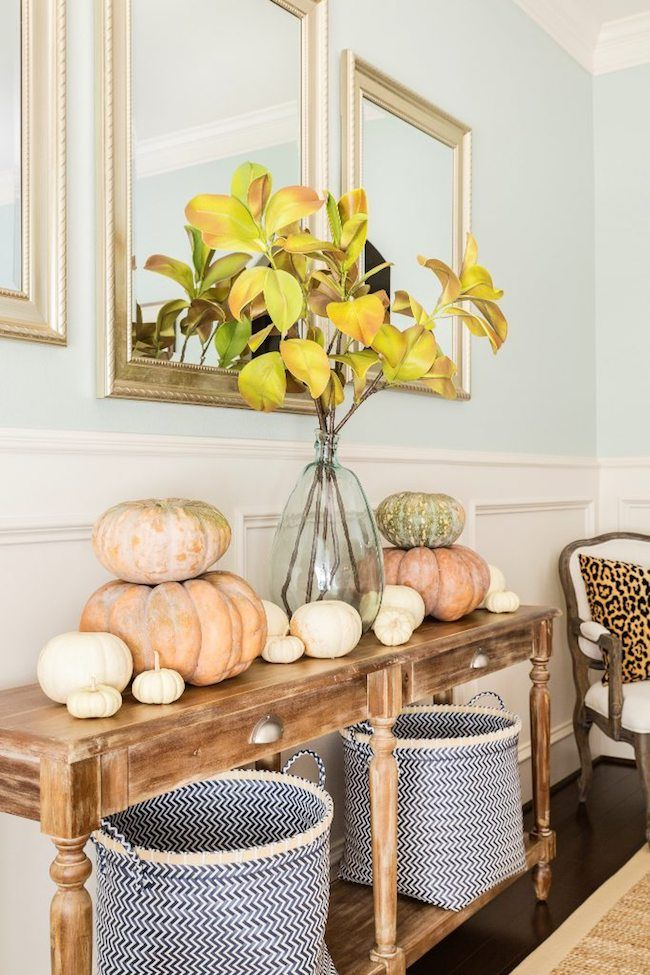 Fall Console Table Via Honeywerehome