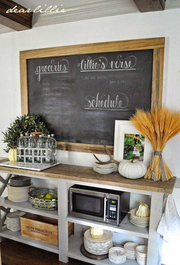 Fall Kitchen Decor Ideas via Dearlillieblog