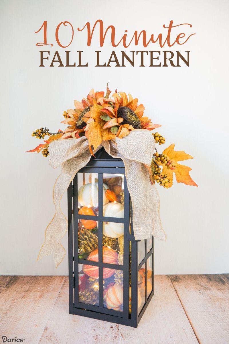 Fall Lantern DIY Decor via Darice